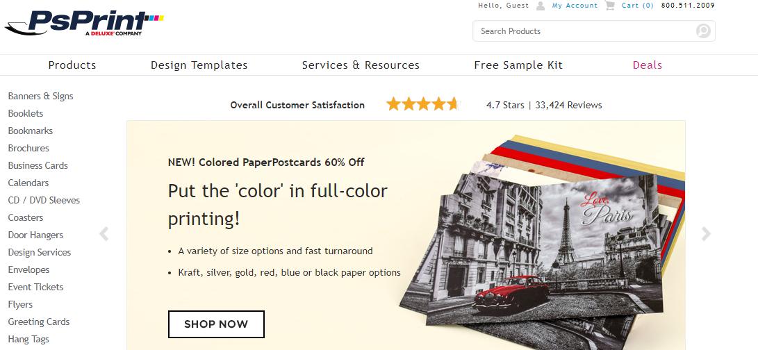 Ps Print - websites like Vistaprint