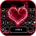 Red Burning Heart Keyboard Background icon