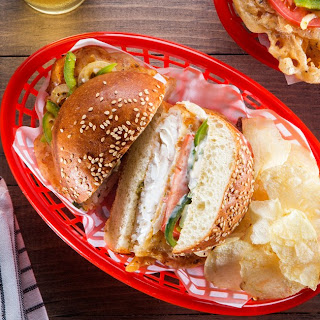 Fried Fish Sandwich with Pepper Slaw