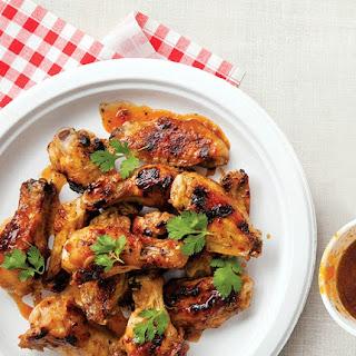 Pepper-Jelly Glazed Hot Wings.