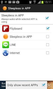 App Sleepless in AP:Keep screen on APK for Windows Phone