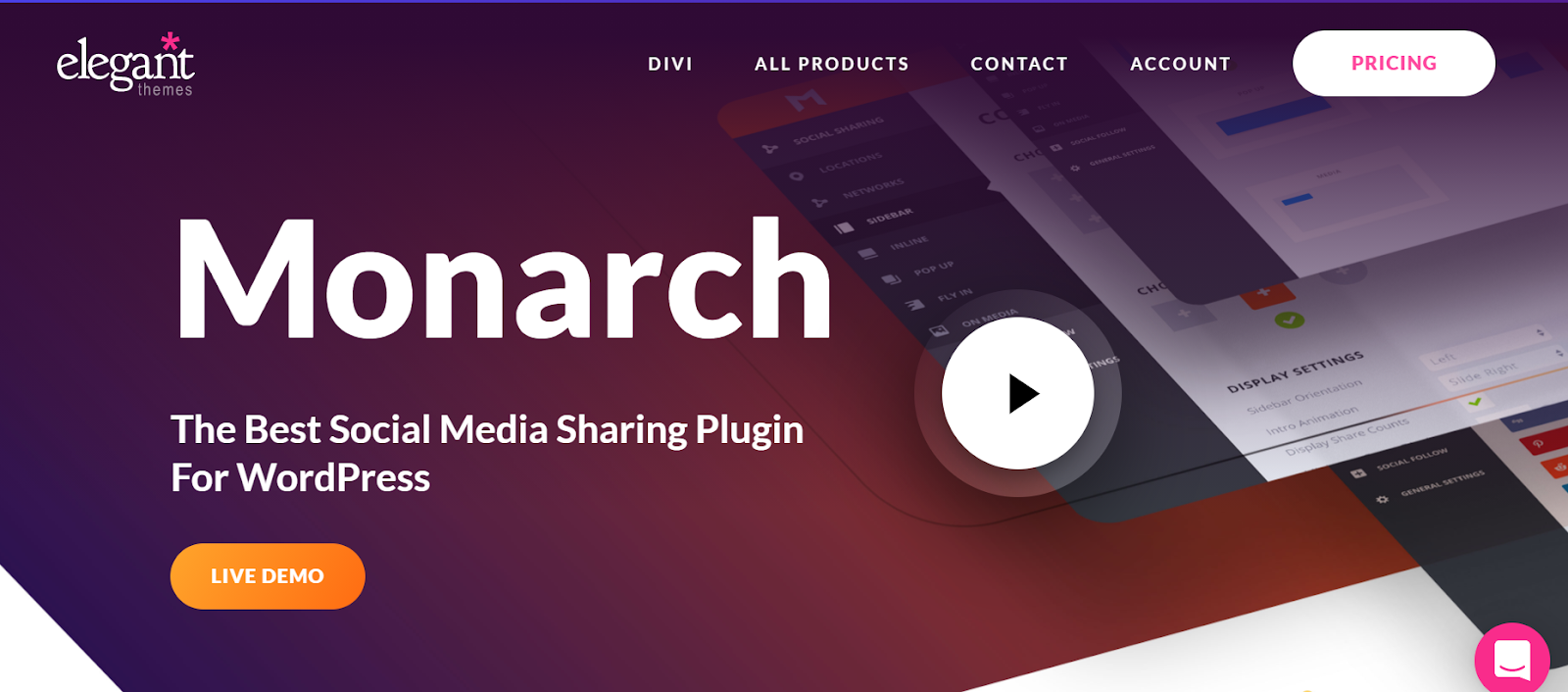 monarch WordPress social media plugin