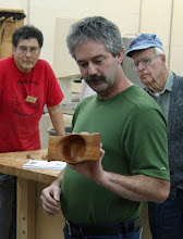 Photo: Karl Vilbig - winged cherry bowl turned with a parting tool (prior to mentoring)!