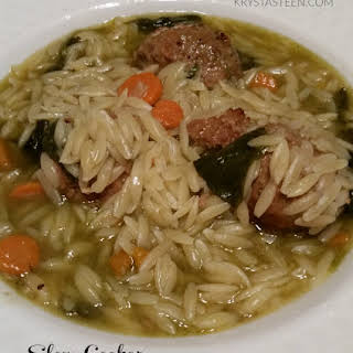 Slow Cooker Italian Wedding Soup.
