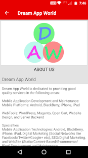 Dream App World - náhled