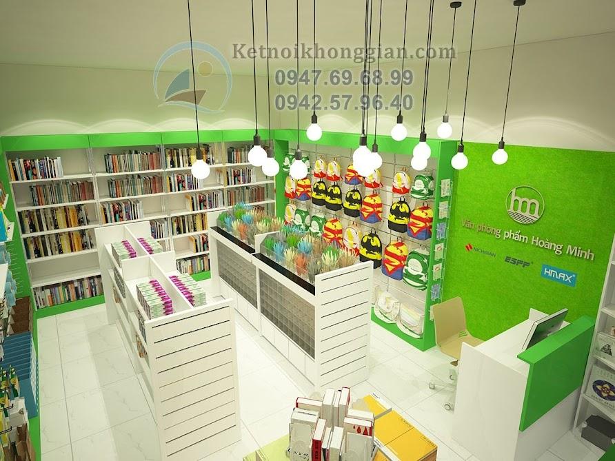 thiết kế cửa hàng văn phòng phẩm ấn tượng mạnh