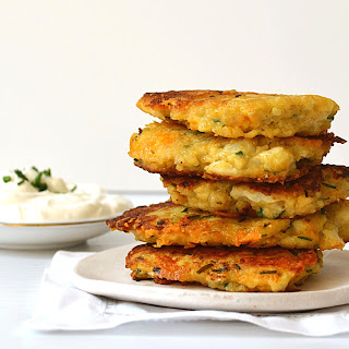 Cauliflower and Cheese Fritters!