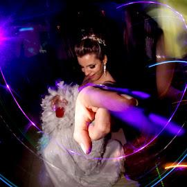 Light Painting - Noiva by Jean Manara - Wedding Old - Dancing ( balada, light painting, dança )