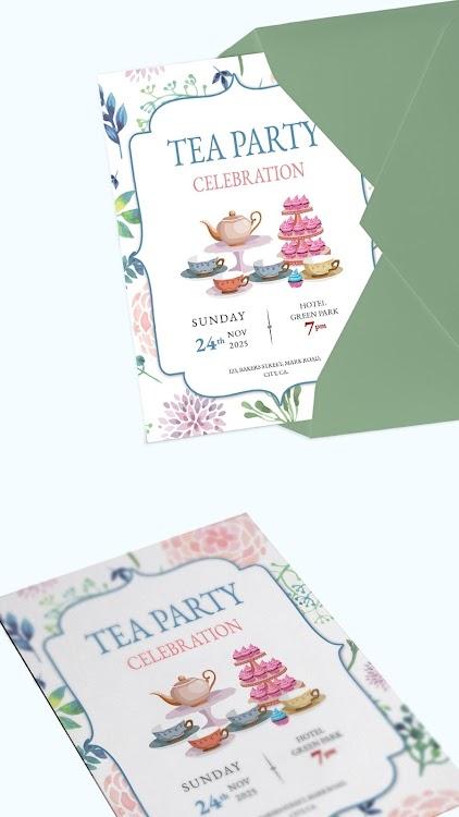 Party Invitation Card Maker Android تطبيقات Appagg