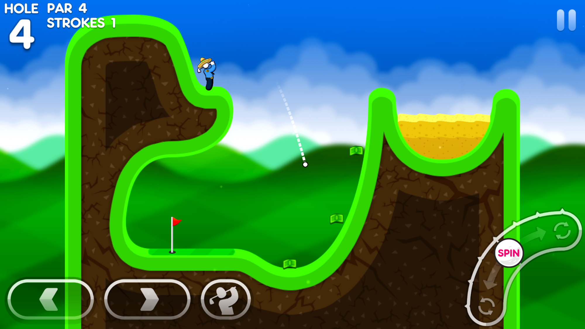 Super Stickman Golf 3 screenshot #1