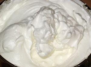 Whip the whites into thick foam.