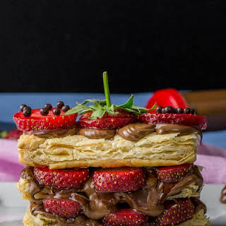 Strawberry Nutella Puff Pastry Sandwich.