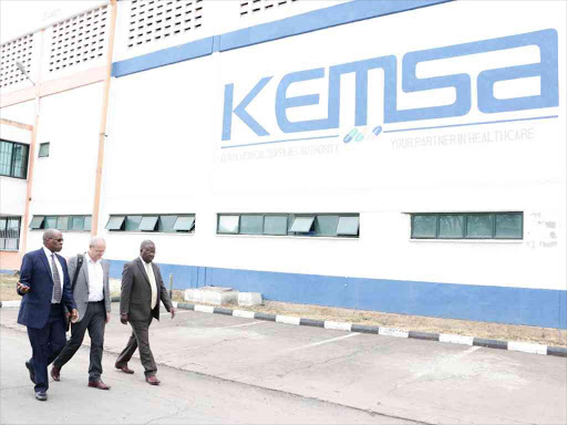 Kemsa warehouse in Embakasi, Nairobi.