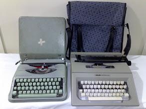 Photo: Manual Typewriters Baby Hermes Olivetti Lettera 25