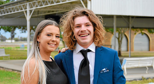 Toby Linehan, with girlfriend Lidia McCauley, at Narrabri High School's class of 2018 school formal.