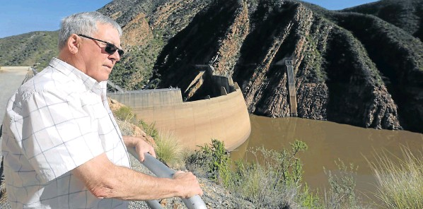 Gamtoos Irrigation Board CEO Pierre Joubert looks at the dam level