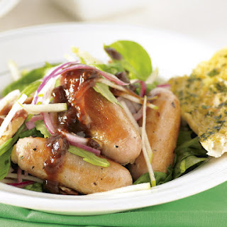 Chicken Sausages with Apple Salad