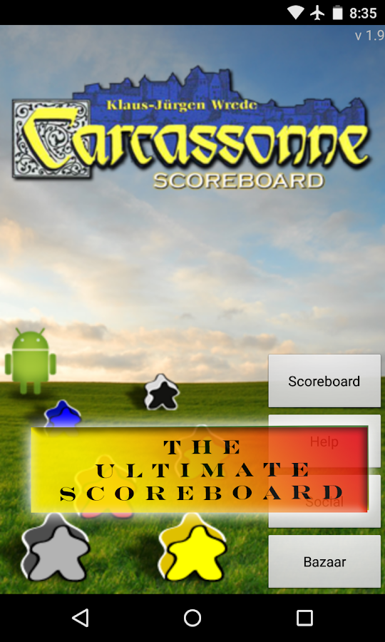 Carcassonne Scoreboard- screenshot