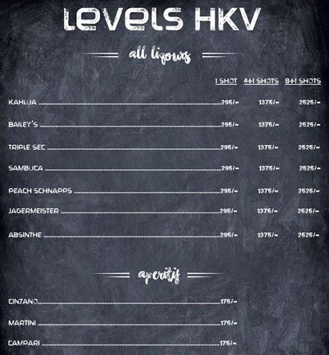 Menu 4 - Levels HKV, Hauz Khas Village, New Delhi