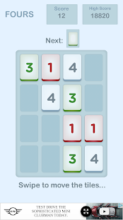 Fours- 2048 Number Puzzle Game- screenshot thumbnail