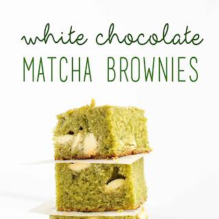 White Chocolate Matcha Brownies