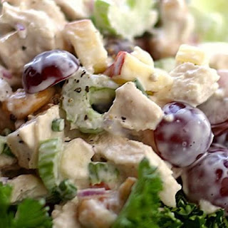 Chicken Salad with Grapes, Cashews, Apples and Fresh Dill.