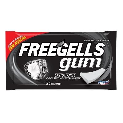 chicle freegells extra fuerte 8gr