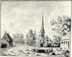 Photo: 1729 'De Plaetse', Markt van Princenhage, rechts herberg het Zwaantje.