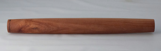 "Photo: Jack Enders 1 1/2"" x 13"" child sized rolling pin [cherry]"