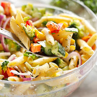 Pasta Salad With Mayonnaise And Bell Pepper Recipes.