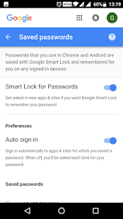Password Manager for Google Account - náhled
