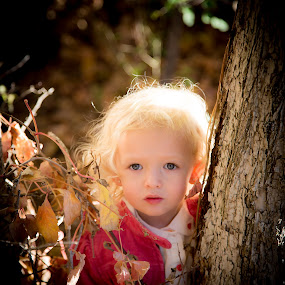 Hope and Innocence  by Richard States - Babies & Children Child Portraits ( child, innocense, girl, nature, fall, portrait,  )