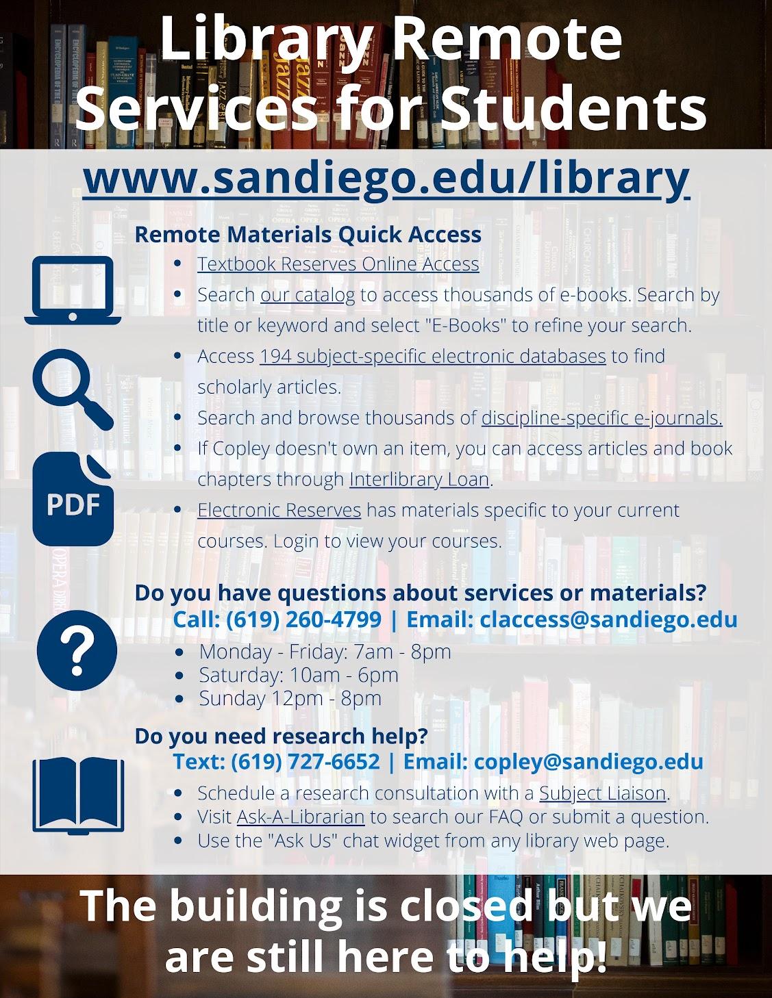 USD Remote Library Services