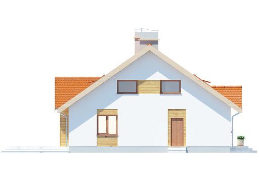 Groszek dach dwuspadowy - Elewacja lewa