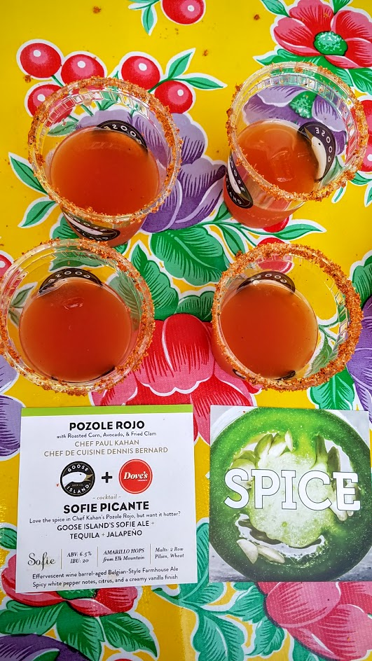 Feast PDX 2016 Night Market, the Goose Island booth was one of my favorites to return to offering 3 beer cocktails with 3 flavor profiles: Smoke (La Senorita Ahumada with Goose Island's Sofie Ale with Mezcal), Spice ((Sofie Picante with Sofie Ale and Tequila and Jalapeno),), and Citrus (Sofie Gin Spritzer with Sofie Ale with Curacao Orange Peel, Citrus Gin, and Orange)
