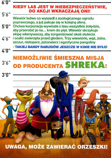 Tył ulotki filmu 'Rabusie Fistaszków'