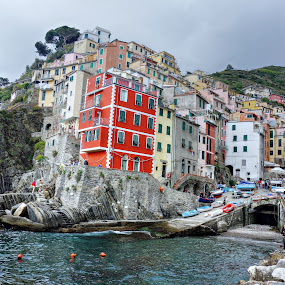 Riomaggiore, Cinque Terre. Italy by Roger Gulle Gullesen - Buildings & Architecture Public & Historical