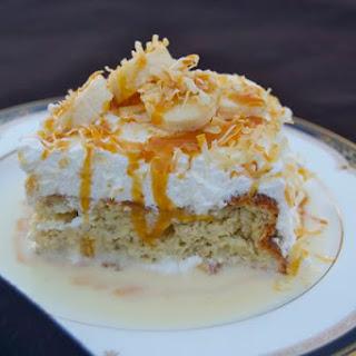 Banana Tres Leches Cake –