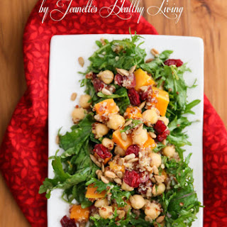 Quinoa, Butternut Squash, Chickpea, Apple, Roasted Beet Salad.