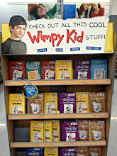 Photo: On the end cap in the book section was a big Diary of a Wimpy Kid display.  They look neat but are geared towards much older kids.