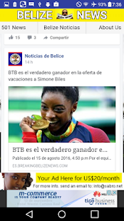 Belize News Noticias de Belice- screenshot thumbnail
