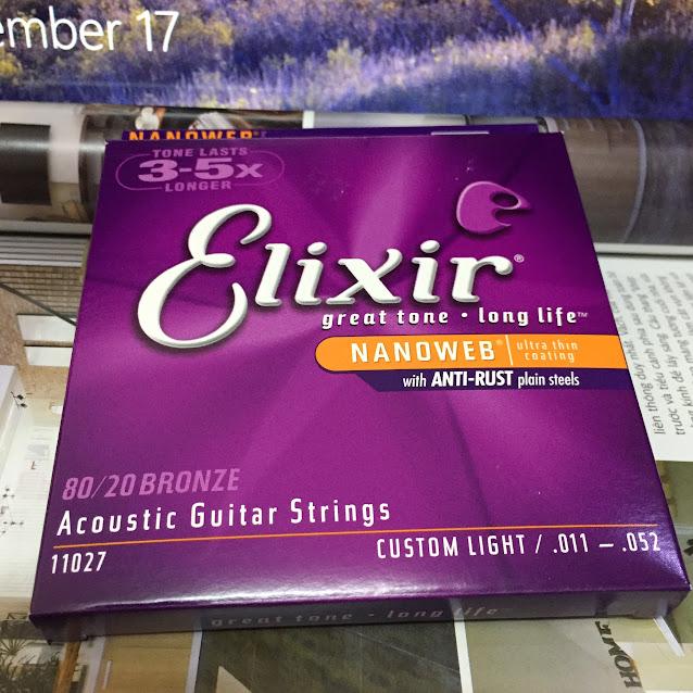 Dây Đàn Guitar Acoustic - Elixir Nanoweb Bronze 11027