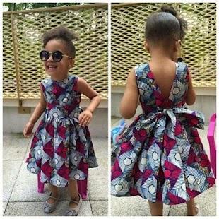 Ankara Kiddies Dresses - náhled