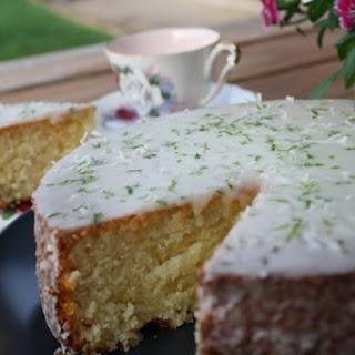 Lime Coconut Sponge Cake.