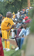 Kaizer Chiefs supporter Colly during the Telkom Knockout Semi Final match between Bidvest Wits and Kaizer Chiefs at Bidvest Stadium on November 18, 2017 in Johannesburg.