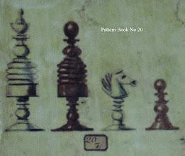 Photo: Bone Chessmen - No 20  Jaques 'Pattern Book'