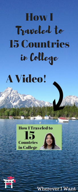 Travel in College | How to Travel in College | Backpack in College | Study Abroad