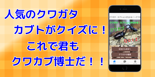 クワガタ・カブトムシがわかる!~クワカブクイズ