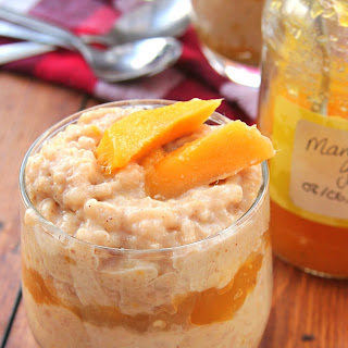 Spicy Mango Layered Rice Pudding