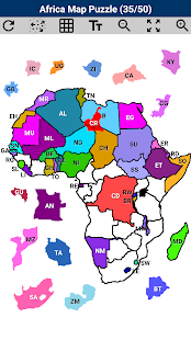 Africa Map Puzzle- screenshot thumbnail